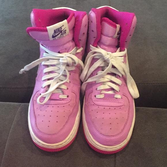 Nike Shoes | Pink High Top Nike Air